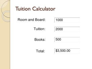 Tuition Calculator