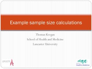Example sample size calculations