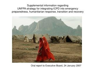 Oral report to Executive Board, 24 January 2007