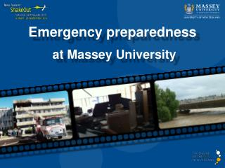 Emergency preparedness at Massey University