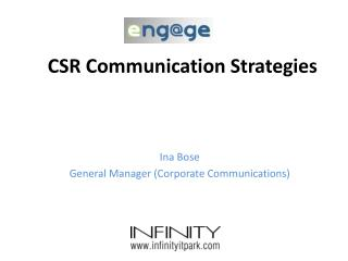 CSR Communication Strategies