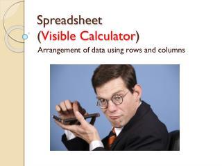 Spreadsheet ( Visible Calculator )