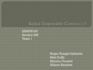 Kodak Disposable Camera 2.0