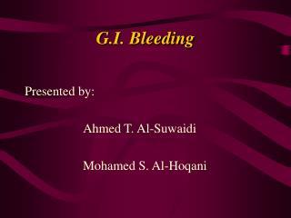 G.I. Bleeding