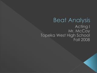 Beat Analysis