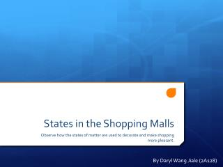 States in the Shopping Malls