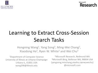 Learning to Extract Cross-Session Search Tasks