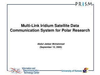 Multi-Link Iridium Satellite Data Communication System for Polar ...