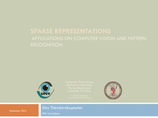 Sparse Representations Applications on computer vision and pattern recognition