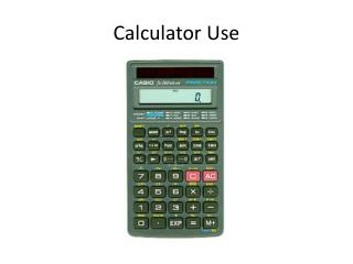 Calculator Use