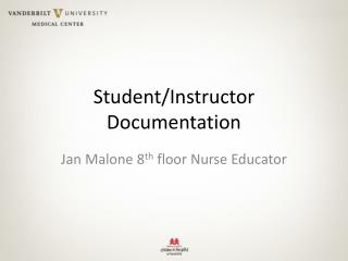 Student/Instructor Documentation
