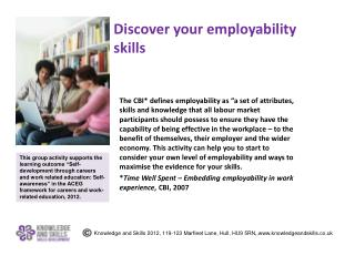 Discover your employability skills
