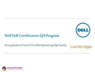 Dell Self-Certification QA  Program