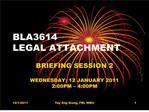BLA3614  LEGAL ATTACHMENT