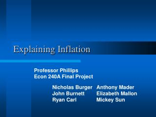 Explaining Inflation