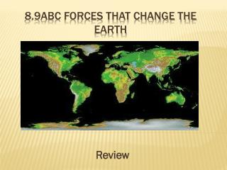 8.9ABC Forces that change the earth
