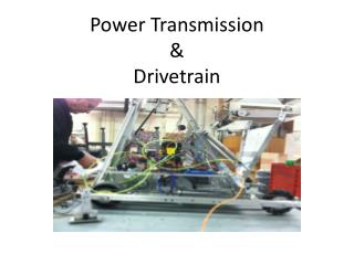 Power Transmission & Drivetrain