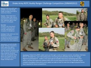 Drake Army ROTC Buddy Ranger Challenge Competition (30MAR2012)