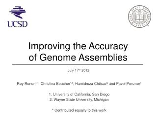 Improving  t he Accuracy  o f Genome Assemblies