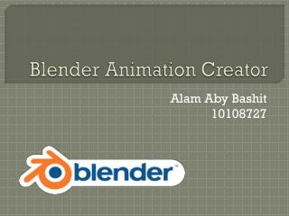 Blender Animation Creator