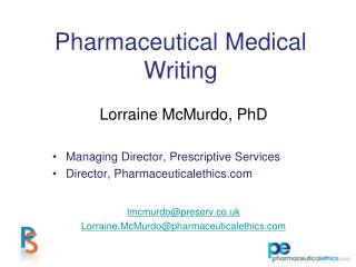Pharmaceutical Medical Writing