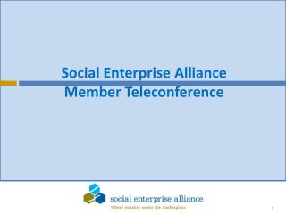 Social Enterprise Alliance Member Teleconference