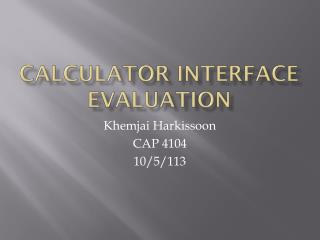 Calculator Interface Evaluation