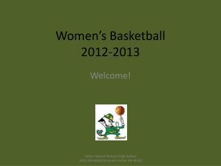 Women's Basketball 2012-2013