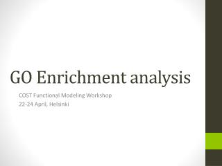 GO Enrichment analysis