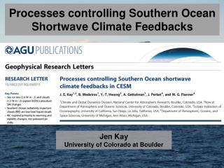 Processes controlling Southern Ocean  Shortwave Climate Feedbacks