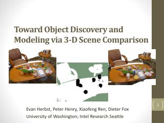 Toward Object Discovery and Modeling via 3-D Scene Comparison