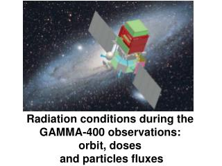 Radiation conditions during the GAMMA-400 observations:  orbit, doses  and particles fluxes