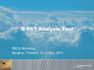 G-PAT Analysis Tool