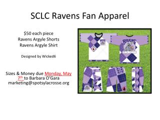 SCLC Ravens Fan Apparel