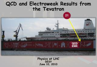 QCD and Electroweak Results from  the  Tevatron Nikos Varelas University of Illinois at  Chicago