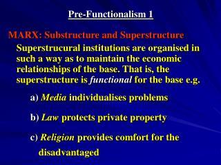 Pre-Functionalism 1