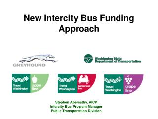 New Intercity Bus Funding Approach