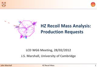 HZ Recoil Mass Analysis:  Production Requests