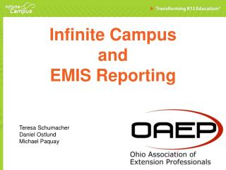 Infinite Campus  and  EMIS Reporting