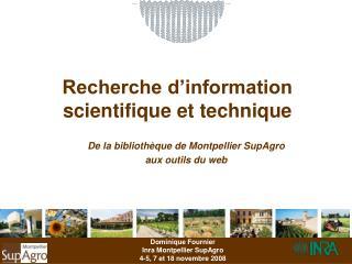 Recherche d information  scientifique et technique