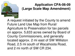 Application CPA-06-09  (Large Scale Map Amendment)