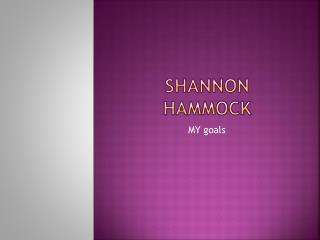 Shannon Hammock