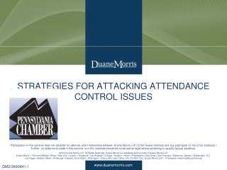 STRATEGIES FOR ATTACKING ATTENDANCE CONTROL ISSUES