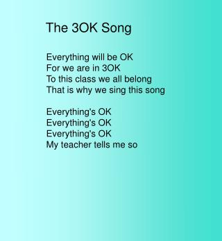 The 3OK Song