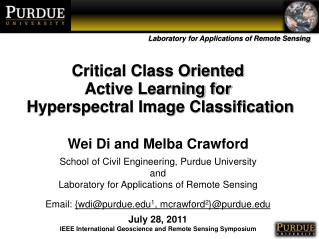 Critical Class Oriented  Active Learning for  Hyperspectral Image Classification