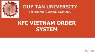 KFC VIETNAM ORDER SYSTEM
