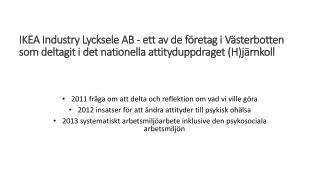 IKEA Industry Lycksele AB