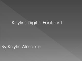 Kaylins  Digital Footprint By:Kaylin Almonte