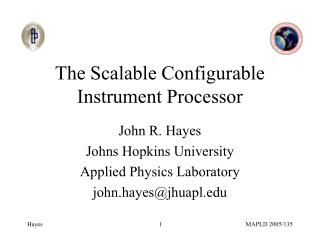The Scalable Configurable Instrument Processor