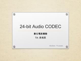 24-bit Audio  CODEC